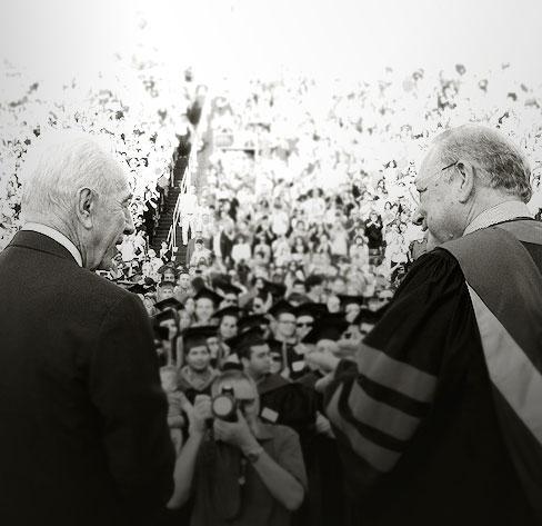 .Prof. Uriel Reichman & President Shimon Peres